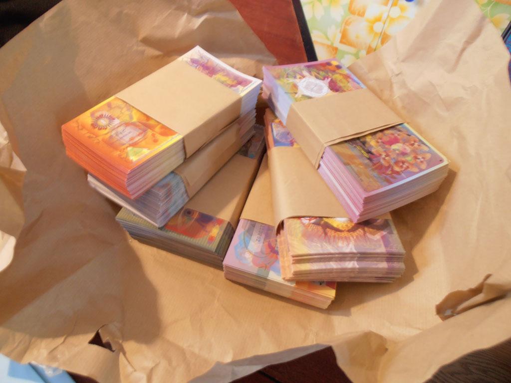 Presentatie eerste duizend gedrukte Biljetten van Onbepaalde Waarde