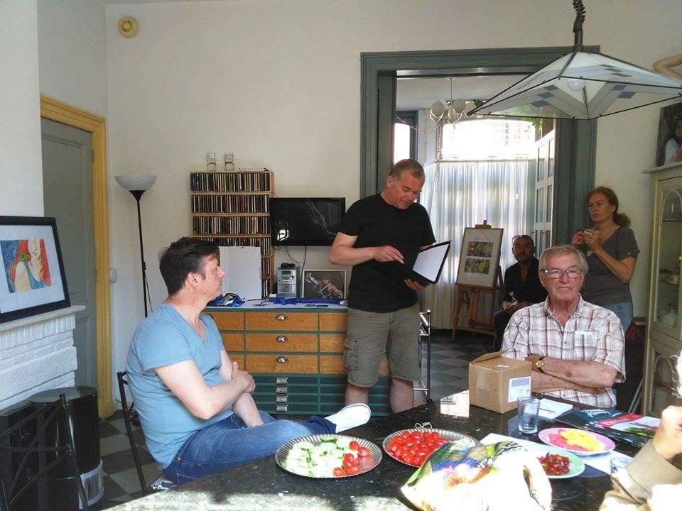 Arjan Bosch aanwezig bij de Vijfhoek Kunstroute